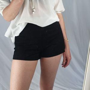 H&M black mini shorts size 4 NWT